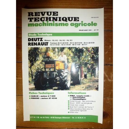 50-12 a 80-14 Revue Technique Agricole Renault