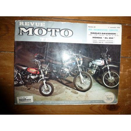 90 - 125 - XL250 Revue Technique moto Harley Davidson Honda