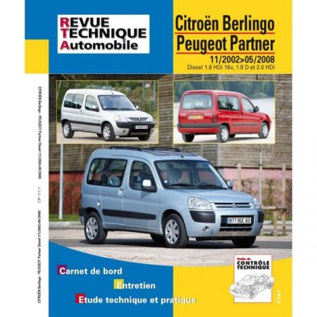Berlingo Partner 02-08 Revue Technique Citroen