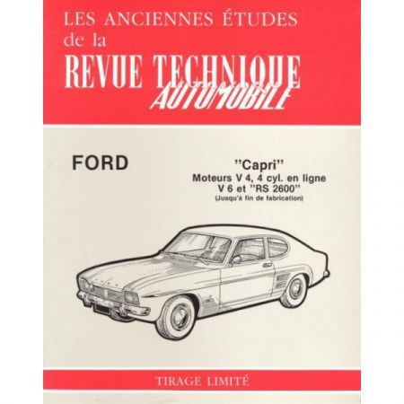 Capri V4 V6 RS Revue Technique Ford