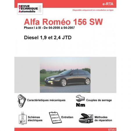 156SW D 00-07 Revue e-RTA Numerique Alfa Romeo
