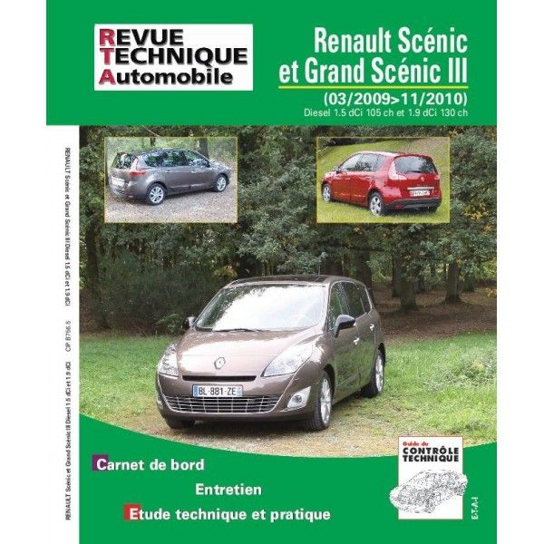 renault scenic grand scenic iii diesel 1 5 dci 105cv 1 9 dci 130cv de 03 2009 a 11 2010. Black Bedroom Furniture Sets. Home Design Ideas