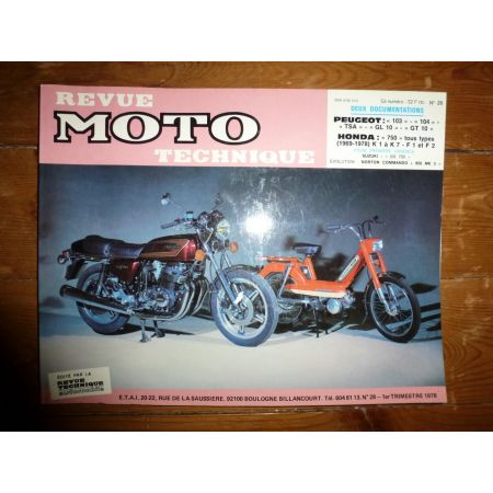 103 104 TSA GL10 GT10 750 Revue Technique moto Honda Peugeot
