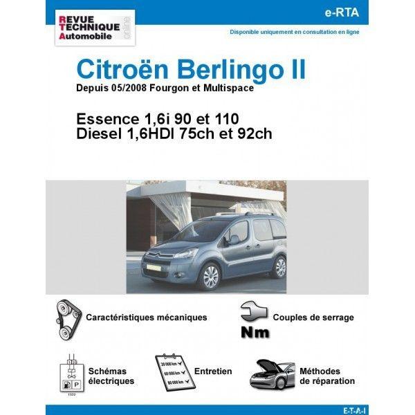 citroen berlingo ii fourgon et multispace essence 90cv 110cv diesel 1 6hdi 75cv 92cv. Black Bedroom Furniture Sets. Home Design Ideas