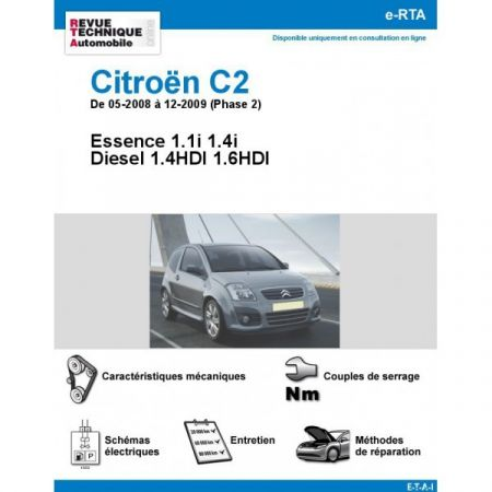 citroen c2 phase 2 essence diesel 1 4hdi 1. Black Bedroom Furniture Sets. Home Design Ideas