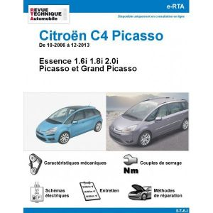 citroen c4 picasso grand picasso essence de 10 2006 a 12 2013. Black Bedroom Furniture Sets. Home Design Ideas