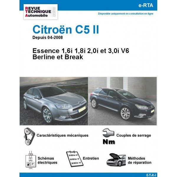 citroen c5 ii essence v6 depuis 04 2008. Black Bedroom Furniture Sets. Home Design Ideas