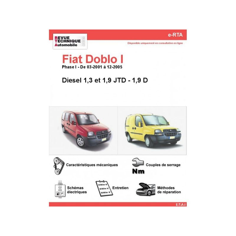 fiat doblo i phase 1 diesel 1 3jtd 1 9jtd 1 9d de 03. Black Bedroom Furniture Sets. Home Design Ideas