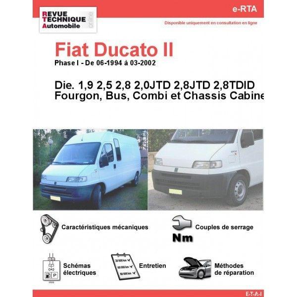 fiat ducato ii phase 1 diesel 1 9 2 0 2 5 2 8 jtd 2 8 tdid de 06 1994 a 02 2002. Black Bedroom Furniture Sets. Home Design Ideas