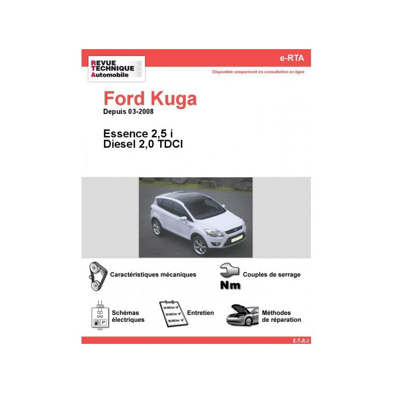 ford kuga essence diesel 2 0 tdci depuis 03 2008. Black Bedroom Furniture Sets. Home Design Ideas