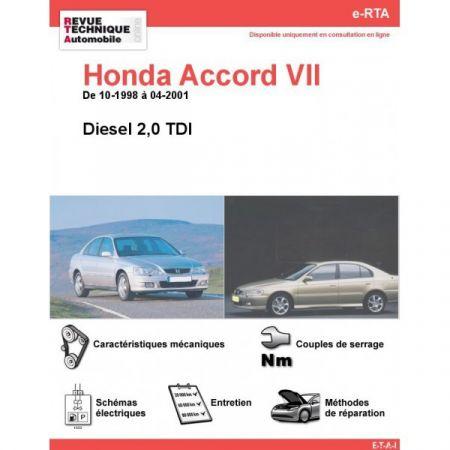 Accord D 98-01 Revue e-RTA Numerique Honda