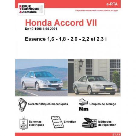 Accord E 98-01 Revue e-RTA Numerique Honda