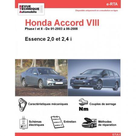 Accord D 03-08 Revue e-RTA Numerique Honda