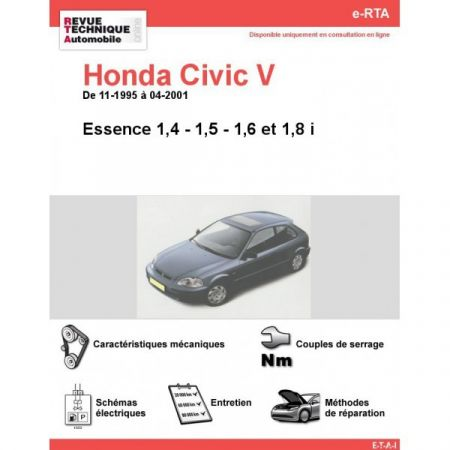 Civic E 95-01 Revue e-RTA Numerique Honda