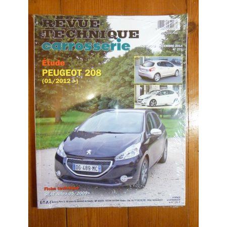 208 Revue Technique Carrosserie Peugeot