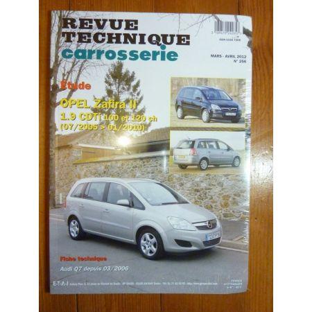 Zafira II CDTi Revue Technique Carrosserie Opel