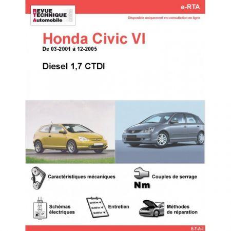 Civic D 01-05 Revue e-RTA Numerique Honda