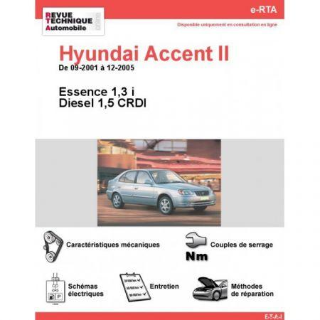 Accent 01-05 Revue e-RTA Numerique Hyundai