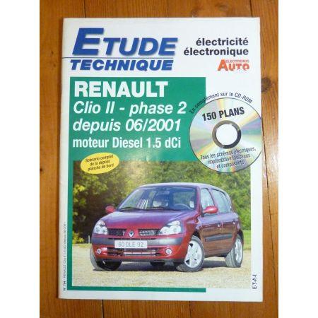 Clio II D Revue Technique Electronic Auto Volt Renault