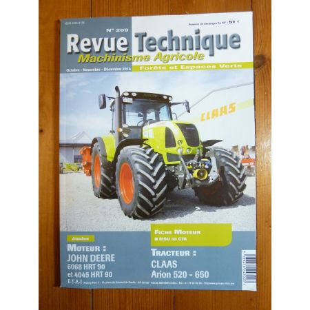 Arion 520 a 650 Revue Technique Agricole Claas