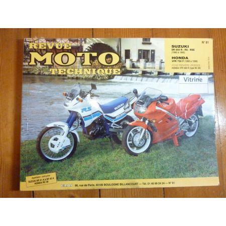 DR650 VFR750 Revue Technique moto Honda Suzuki