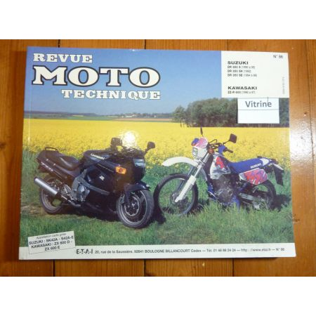 DR350 ZZR600 Revue Technique moto Kawasaki Suzuki