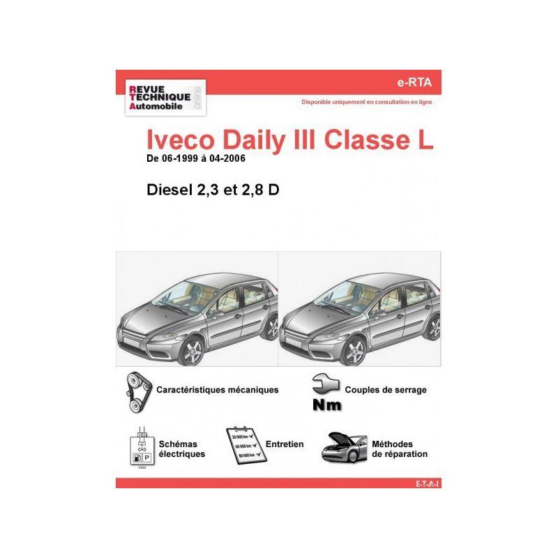 iveco daily iii classe l diesel 2 3d 2 8d de 06 1999 a 04. Black Bedroom Furniture Sets. Home Design Ideas