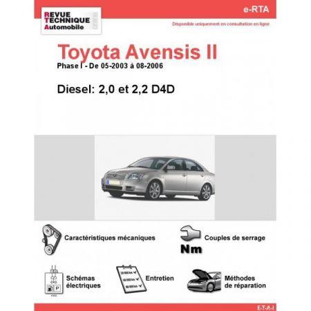 Avensis II D 03-06 Revue e-RTA Numerique Toyota