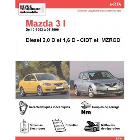 Mazda 3 D 03-09 Revue e-RTA Numerique Mazda