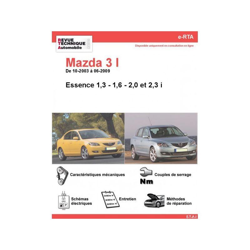 Mazda 3 Phase 1 Essence 1 3i 1 6i 2 0i 2 3i De 10 2003 224 06 2009