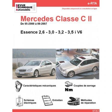 Classe C E V6 00-07 Revue e-RTA Numerique Mercedes