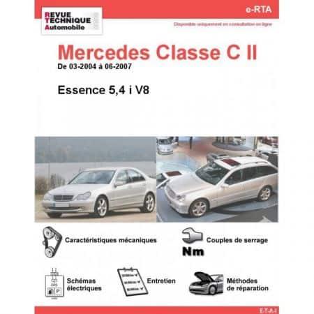 Classe C E V8 04-07 Revue e-RTA Numerique Mercedes