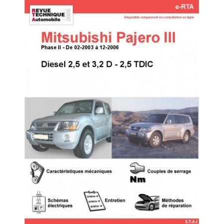 Pajero D 03-06 Revue e-RTA Numerique Mitsubishi