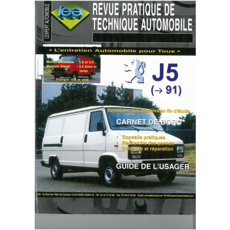 J5 C25 -91 Revue Technique Peugeot Citroen