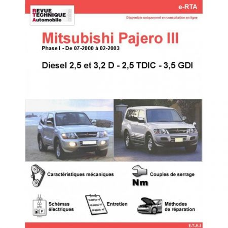 Pajero D 00-03 Revue e-RTA Numerique Mitsubishi