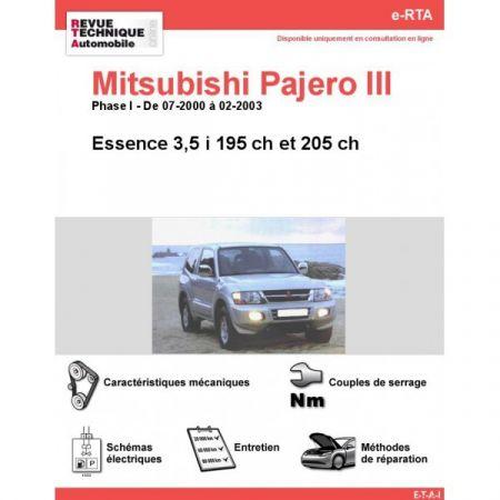 Pajero V6 E 00-03 Revue e-RTA Numerique Mitsubishi