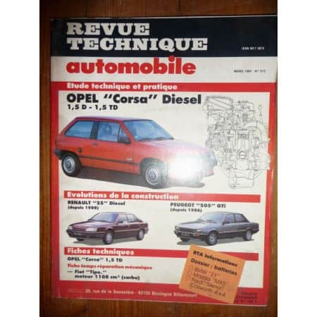 CORSA 1.5D Revue Technique Opel