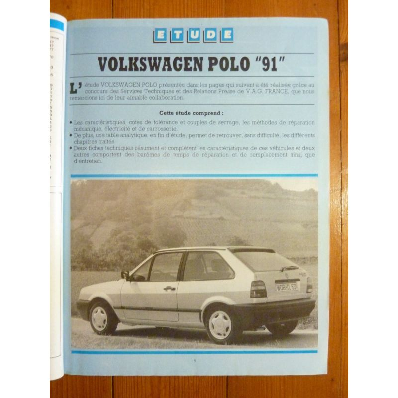 rta revues techniques volkswagen vw polo 1991 essence et. Black Bedroom Furniture Sets. Home Design Ideas