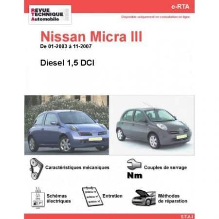 Micra D 03-07 Revue e-RTA Numerique Nissan
