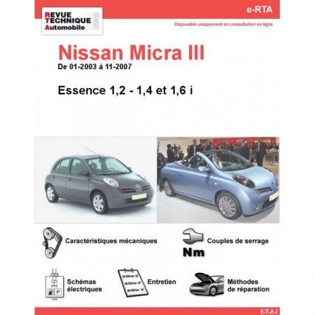 Micra E 03-07 Revue e-RTA Numerique Nissan