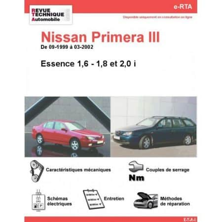 Primera E 99-02 Revue e-RTA Numerique Nissan