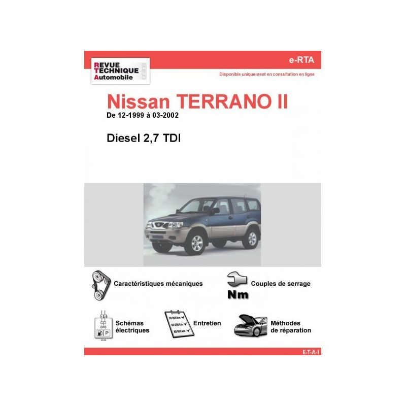 nissan terrano ii diesel 2 7 tdi de 12 1999 a 03 2002. Black Bedroom Furniture Sets. Home Design Ideas