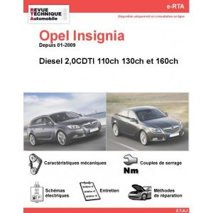opel insignia diesel 2 0 cdti 110cv 130cv 160cv depuis 01 2009. Black Bedroom Furniture Sets. Home Design Ideas