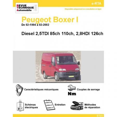 Boxer D 94-02 Revue e-RTA Numerique Peugeot
