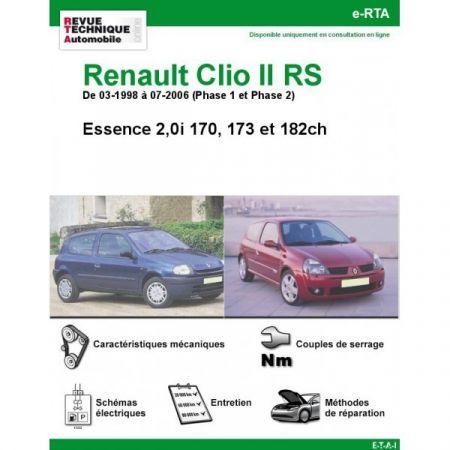 Clio II RS 98-06 Revue e-RTA Numerique Renault