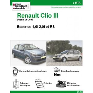 renault clio iii essence rs depuis 09 2005. Black Bedroom Furniture Sets. Home Design Ideas