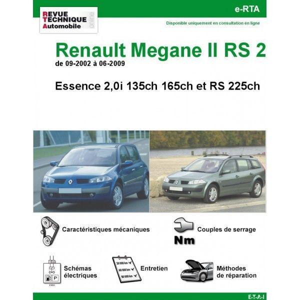 renault megane ii rs 2 essence 135cv 165cv rs 225cv de 09 2002 a 06 2009. Black Bedroom Furniture Sets. Home Design Ideas