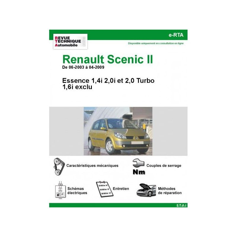 renault scenic ii essence 2 0 turbo sauf. Black Bedroom Furniture Sets. Home Design Ideas