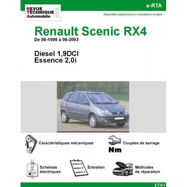 renault scenic rx4 diesel 1 9 dci essence de 08 1999 a 06 2003. Black Bedroom Furniture Sets. Home Design Ideas