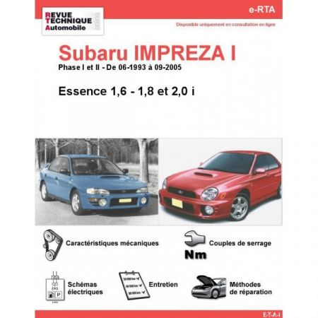 Impreza I E 93-05 Revue e-RTA Numerique Subaru